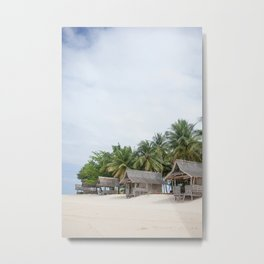 Huts on Siargao Island Metal Print