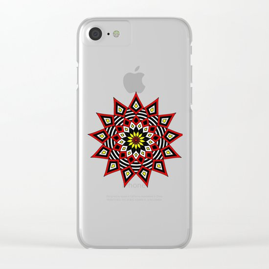 Stars Up to the Sky | Mandhala | Mother Star Clear iPhone Case