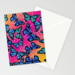 Cool Monarchs at Sunset Stationery Cards