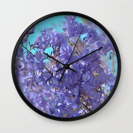 Purple and Blue Party! Wall Clock