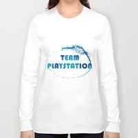 playstation Long Sleeve T-shirts featuring Team Playstation by Bradley Bailey
