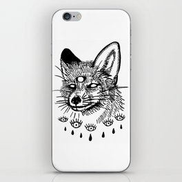 what the fox sees iPhone Skin