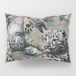 Snow leopard 2 background Pillow Sham