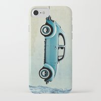 vw iPhone & iPod Cases featuring Water Landing VW beetle by Vin Zzep