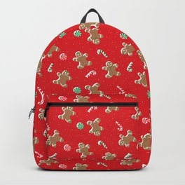 Xmas Gingerbread man and woman Backpack