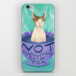 Not Everyone's Cup of Tea - Dobby the Sphynx Elf iPhone Skin