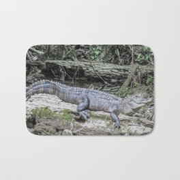 The Smiling Gator Bath Mat