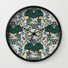 Medieval Tapestry Wall Clock