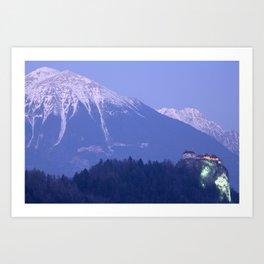 Mountain backdrop Art Print