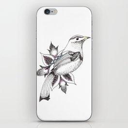 bird and flower iPhone Skin