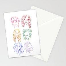 Rainbow Minimal Portraits Stationery Cards