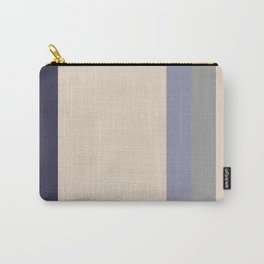 A pleasing arrangement of Jacarta, Light Grey, Spanish Gray and Gray-Blue vertical stripes. Carry-All Pouch