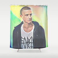 christ Shower Curtains featuring Evian Christ by Enna