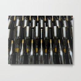 Wine white bottles Metal Print
