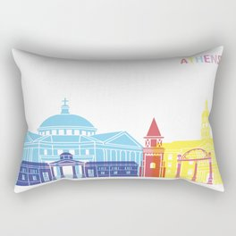 Athens skyline pop Rectangular Pillow