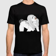 My skin SMALL Mens Fitted Tee Black