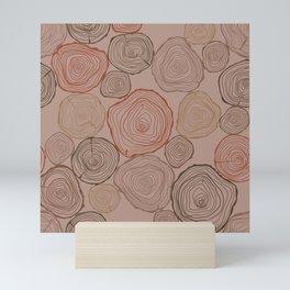 Woodslice Pattern Mini Art Print