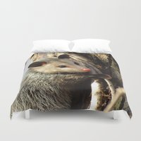 alabama Duvet Covers featuring Alabama Possum by Chuck Buckner