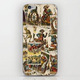 Tarot cards pattern iPhone Skin