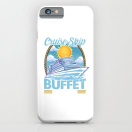 Official Cruise Ship Buffet Inspector Foodie Pun iPhone Case