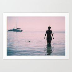 Aegean Mermaid  Art Print