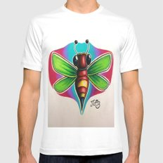 Bee Bumble Mens Fitted Tee MEDIUM White