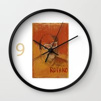 rothko Wall Clocks featuring 50 Artists: Mark Rothko by Chad Beroth