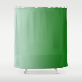 Pastel Green to Green Vertical Linear Gradient Shower Curtain