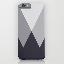 Sawtooth Inverted Blue Grey iPhone Case