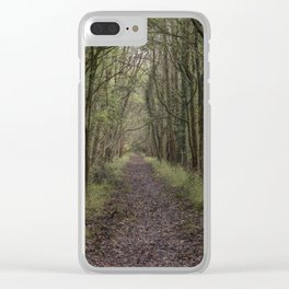 The Old Railway Line Clear iPhone Case