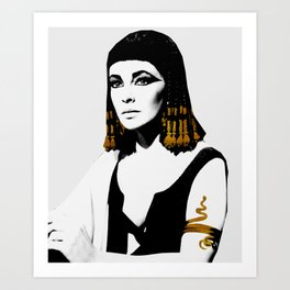 black & gold Cleo Art Print