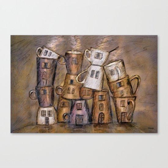 Coffeehouse - draw Canvas Print