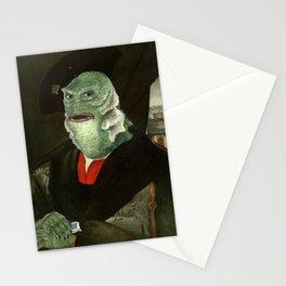 Creature from the Italian Renaissance: Giuliano De Medici meets Black Lagoon Stationery Cards