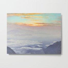 Sea of Clouds (Unkai, Ho-o-San) Vintage Beautiful Japanese Woodblock Print Hiroshi Yoshida Metal Print