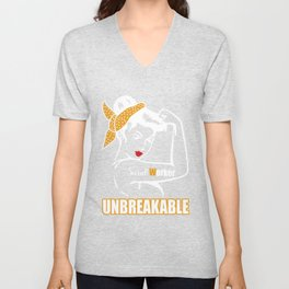 Unbreakable woman pride social worker Unisex V-Neck