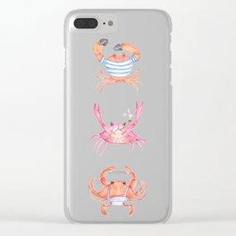 pirate crabs Clear iPhone Case