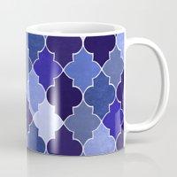 morocco Mugs featuring Morocco Blue by Jacqueline Maldonado