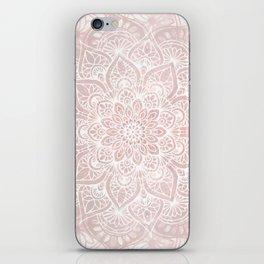 Mandala Yoga Love, Blush Pink Floral iPhone Skin