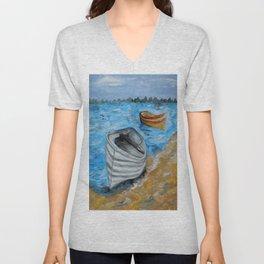 Caught in the Tide Unisex V-Neck