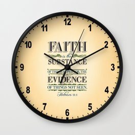The Substance of Things Hoped for . . . Wall Clock