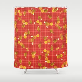 Dancing Drumstick with Rabbit Face No.2 Shower Curtain