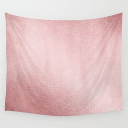 Simply Rose Gold Sunset Wall Tapestry