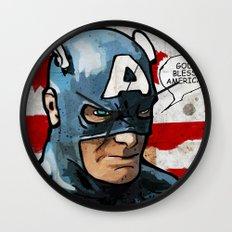 Captain America: God Bless America Wall Clock