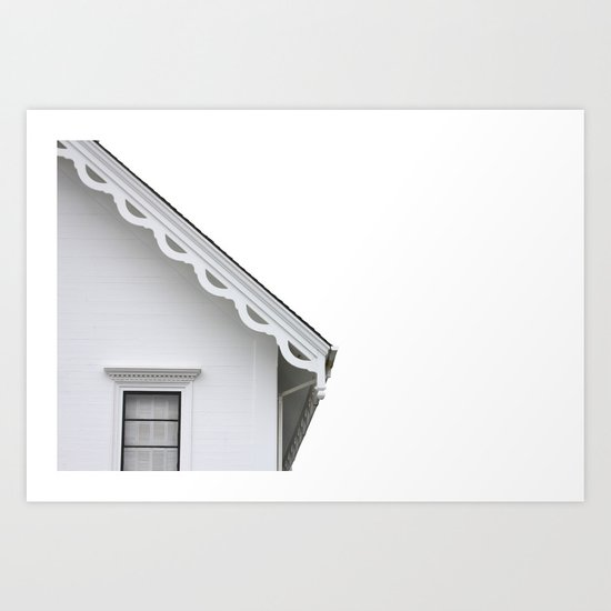 The White Farmhouse Art Print