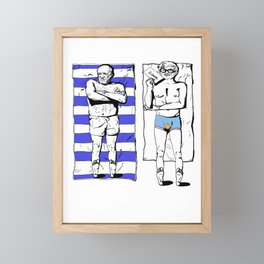 Picasso and Hockney- Great expectations Framed Mini Art Print