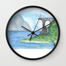 Irish Seaside Ruins Wall Clock