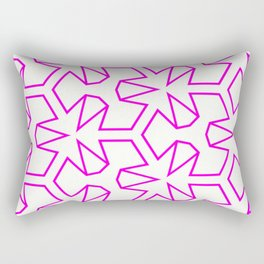 Van Zwaben Pink Neon Pattern Rectangular Pillow