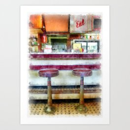 The Four Aces Diner Art Print