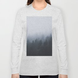 Mysterious forest in the fog Long Sleeve T-shirt