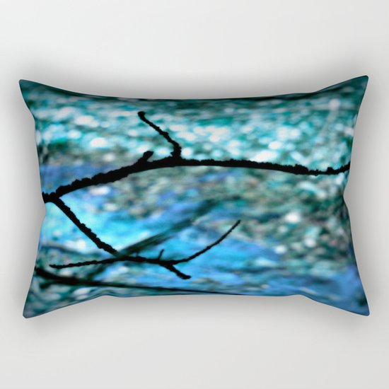 Turquoise Blue Nature Abstract Rectangular Pillow